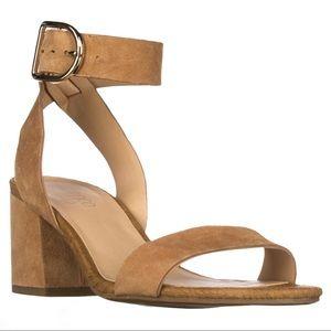 Franco Sarto Marcy Ankle Strap Block Heel Sandals